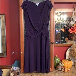 DressBarn purple side rouche dress